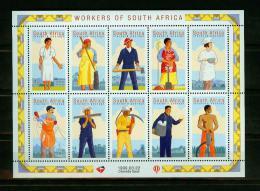 South Africa 10V In Sheetlet, Professions,beroepen,berufe,MNH/Postfis (E4140c) - Politie En Rijkswacht
