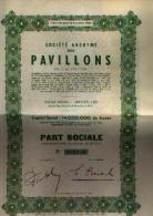 BRUXELLES « SA Des Pavillons En Liquidation » Part Sociale - Industrie
