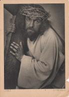 1930 OFFIZIELLE POSTKARTE PASSIONSSPIELE OBERAMMERGAU NR. 3 - JESUS KREUZTRAGEND - Cartes Postales