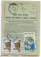 - Ordre De Réexpédition Définitif, 3 Timbres, 1974, Cachet CUERS,  Scans. - France