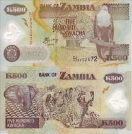 ZAMBIA 500 KWACHA 2006 POLYMER UNC FDS AFRICA - Zambia