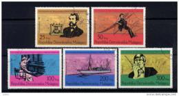 MADAGASCAR Poste 585 à 589 (o) Centenaire Téléphone Graham Bell - Madagascar (1960-...)