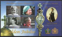 St Lucia 2002 - Golden Jubilee Miniature Sheet MS1260 MNH Cat £4.75 SG2015 - St.Lucie (1979-...)