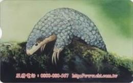 Taiwan Telephone IC Card IC05C043 Pangolin Animal Nature - Taiwan (Formosa)
