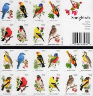 USA 2014 SONGBIRDS / COLORFUL BIRDS Full BOOKLET (20 STAMPS) MNH - Etats-Unis