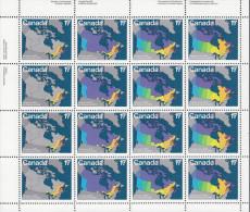 CANADA, 1981 MAPS SHEETLET 16  MNH - 1952-.... Reign Of Elizabeth II