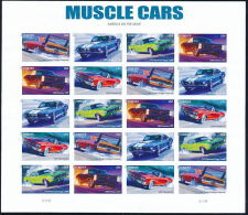 USA 2013 CARS / AUTOMOBILES Strip Of 5  Imperforated/ NonDENTELE Full SHEET MNH - Blocks & Sheetlets