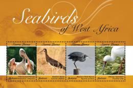 sie1141sh Sierra Leone 2012 Seabirds fo West Africa s/s Pelican Stork Reef-Heron Spoonbill