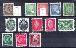 DR Ab 1923, überwiegend Postfrisches Lot - Deutschland