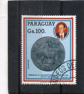PARAGUAY. 1985. SCOTT 2157. DEVELOPMENT PROJECTS. PRES. STROESSNER AND: 1975 COIN - Paraguay