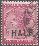 NATAL 1895 1/2d ROSE Nº 125 - South Africa (...-1961)
