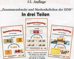 RICHTER 2014 Katalog DDR Zusammendruck+Markenhefte 1-3 Neu 75€ Zierfelder Se-tenant Booklet Special Catalogue Of Germany - Livres, BD, Revues