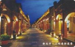 Taiwan Telephone IC Card IC11C010 Night In Old Street Scenery - Taiwan (Formosa)