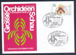 Orchidées Orchids Flora Flowers Germany 1984 -  Orchid Stamp, Grosse Orchideen Schau Show - Label & Cancel - Orchideen