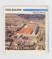 78 - MANTES - CCM SULZER Construction Mécanique Pompes Moteurs Gaz / Vue De L'usine - Dépliant Publicité - Mantes La Ville
