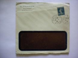 HAUTMONT NORD J. VANNIER GRAVEUR IMPRIMEUR ENVELOPPE DE 1920 - 1900 – 1949