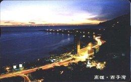 Taiwan Telephone IC Card IC10C014 Night Of Seashore Kaohsiung Scenery - Taiwan (Formosa)