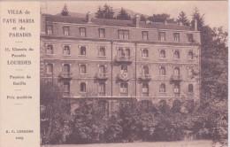 65 LOURDES, Villa De L'Ave Maria Et Du Paradis, Pension De Famille, Prix Modérés - Lourdes