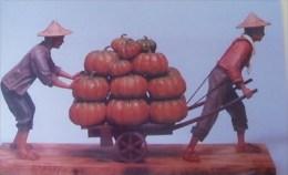 Taiwan Telephone IC Card IC07C007 Pumpkin Farmer Sculpture Culture - Taiwan (Formosa)