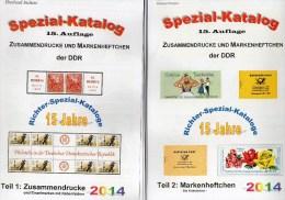 RICHTER 2014 DDR Teil 1+2 Zusammendruck/Zierfelder+Markenhefte Neu 50€ Booklet+se-tenant Bf Special Catalogue Of Germany - Collections