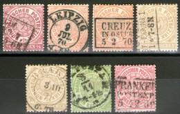 ALLEMAGNE / Conf.de L'All.du Nord:  N°12+14(x2)+17(x2)+18+20 Oblitérés    - Cote 61€ -