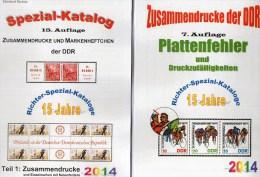 RICHTER 2014 DDR Teil 1+4 Katalog ZD+Plattenfehler New 50€ Abart Se-tenant And Blocs Error Special Catalogue Of Germany - Ediciones Originales