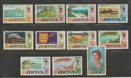JERSEY, 1969, Mint Never Hinged Stamps, Definitives Nrs.7=17, #434 11 Values Only - Jersey
