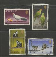 JERSEY, 1971, Cancelled Stamps, Endangered Animals, Nrs. 49-52, #2040 - Jersey