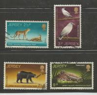 JERSEY, 1972, Cancelled Stamps, Endangered  Animals, Nrs. 65-68, #2054 - Jersey