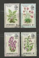 JERSEY, 1972, Cancelled Stamps, Wild Flowers, Nrs. 61-64, #2045 - Jersey