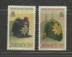 JERSEY, 1972, Mint Never Hinged Stamps, Old Helmets Nrs.71=72, #440 2 Values Only - Jersey