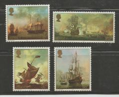 JERSEY, 1974, Mint Never Hinged Stamp(s), Ships Paintings.nrs.110-113, #4223 - Jersey