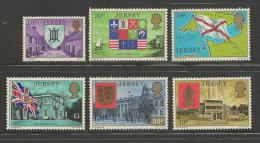 JERSEY, 1976, Mint Never Hinged Stamp(s), Definitives Complete,.nrs.131-148, #4179 - Jersey