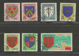 JERSEY, 1981, Cancelled Stamps, Coat Of Arms, Nrs. 273=277, #2068 (7 Values) - Jersey