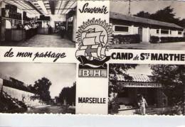 Marseille..Camp De Ste-Marthe..multi-vues Animée..camp Militaire..Armée..militaria..Carte RARE - Marseille