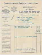 Gironde, Bordeaux, Ets Bordeaux St Jean Produits Chimiques Magot 1931 (voir Explications) - 1900 – 1949