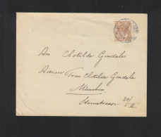 Brief 1908 Amsterdam München - Periode 1891-1948 (Wilhelmina)