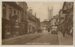 Andover Real Photo Upper High Street Pelham Postcard - Autres