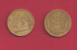 SOUTH AFRICA 1992, Coin XF, 50 Cent Strelizia, Normally Used, C2025 - Zuid-Afrika