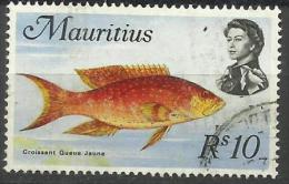 Mauritius - 1969 Moon Fish 10r CTO  Sc 356 - Mauritius (...-1967)