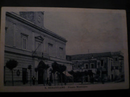 S.SEBASTIANO Piazza Municipio- Usata S.Sebastiano Al Vesuvio 19.10.29- - Other Cities