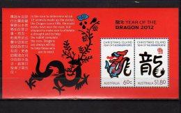2012 Christmas Island - Lunar Year Of Dragon - MS - Paper - MNH** - Astrologie