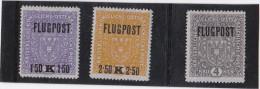 1918 FLUGPOST- SATZ  HELLGRAUES PAPIER ** - Unused Stamps
