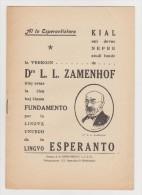 Brochure About Books By Zamenhof In Esperanto - Broŝuro Pri Libroj Verkitaj De Zamenhof En Esperanto - Boeken, Tijdschriften, Stripverhalen