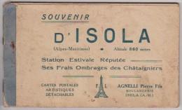 SOUVENIR D'ISOLA - Carnet De 10 Vues - France