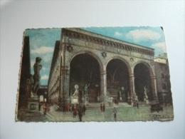 Firenze Loggia Dell'orcagna  Pittorica Vedi Firma Illustratore - Firenze