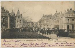 Beloeil Le Chateau Pendant L Incendie Du 14/12/1900 Edit Delcourt  Timbrée 1903 - Beloeil
