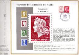 Feuillet Tirage Limité CEF 137 Transfert De L'imprimerie Du Timbre Périgueux Timbre + Vignette - Other