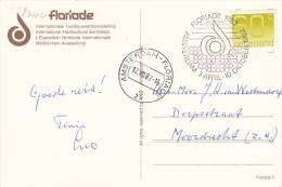 Ansicht 12 Aug 1982 Amsterdam-Floriade (typerader CB) Speciaal Stempel Floriade - Postal History