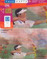 GREECE PHONECARD CHATZAKIS ARCHERY-X1831- 250000pcs-8/04-USED - Jeux Olympiques